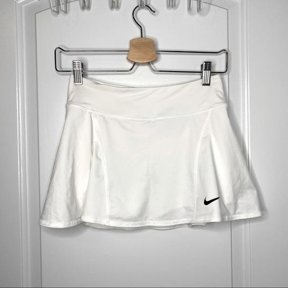 Nike Mini Skirt Dri Fit White Tennis Skort Shorts